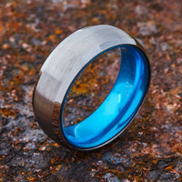 Silver Tungsten Ring