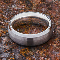 Silver Tungsten Ring - Sterling Silver