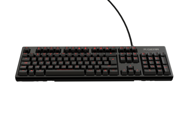 RUSH Pro Gaming Keyboard Silent, Red MX Cherry Switches