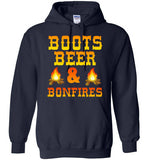 Boots Beer and Bonfires Hoodie