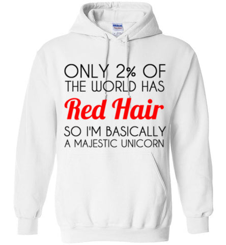Red Hair Unicorn Hoodie