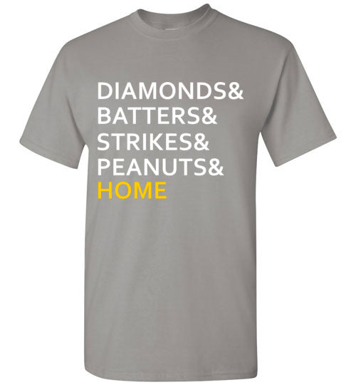 Diamonds and Batters and Strikes and Peanuts and Home T-Shirt