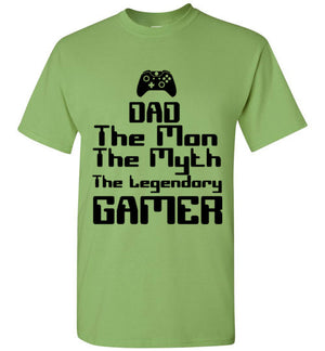 Dad The Man The Myth the Legendary Gamer T-Shirt