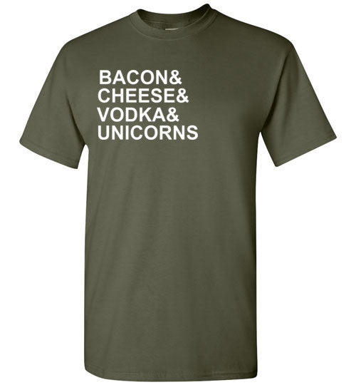Bacon Cheese Vodka and Unicorns