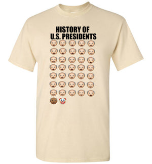 History of U.S. Presidents Clown Trump T-Shirt