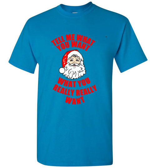 Santa Tell Me What You Want What You Really Really Want Christmas T-Shirt