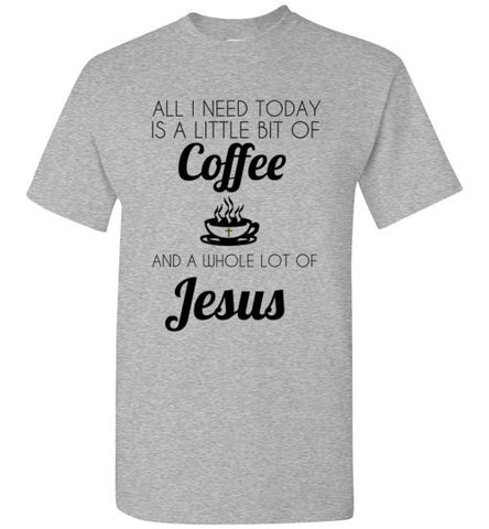 Coffee Jesus Heather Grey
