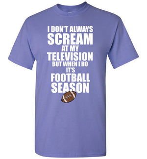 I Don't Always Scream at my Television but When I Do It's Football Season