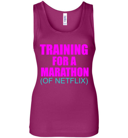 Training for a Marathon of Netflix Ladies Tank Top