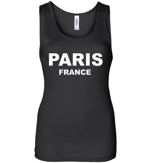 Paris France Ladies Tank Top