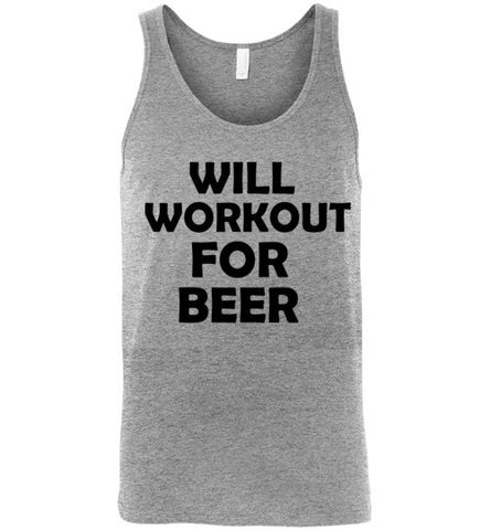 Will Workout for Beer Unisex Tank Top