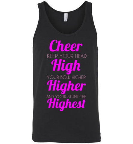 Cheer High Unisex Tank Top