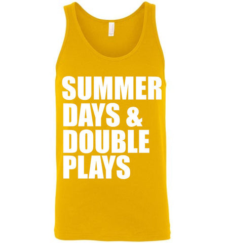 6bde2b160066 Summer Days and Double Plays Unisex Tank Top – tshirtunicorn