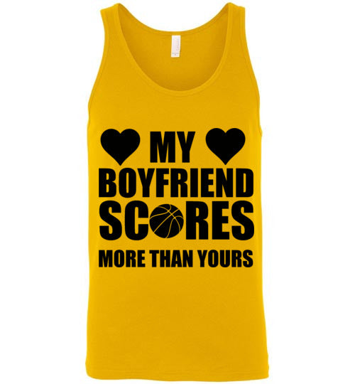 My Boyfriend Scores More Than Yours Basketball Unisex Tank Top