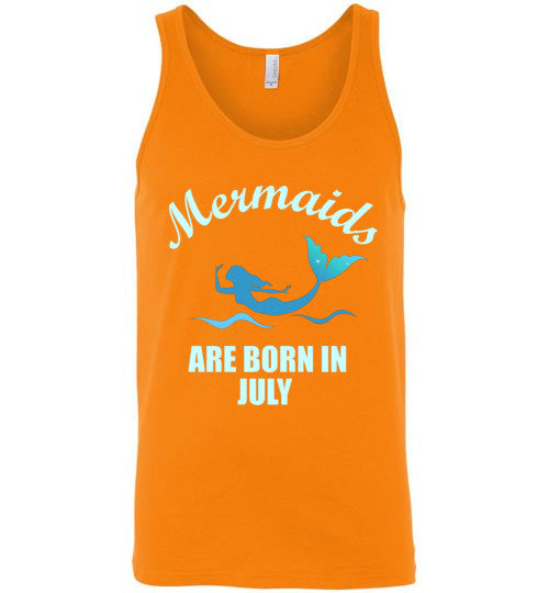Mermaids Are Born in July Unisex Tank Top