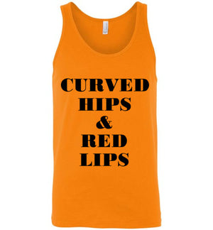 Curved Hips and Red Lips Unisex Tank Top