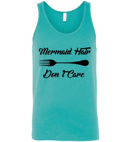 Mermaid Hair Don't Care Unisex Tank Top