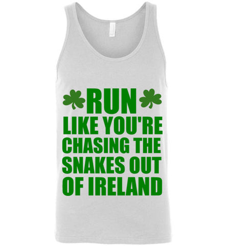 Run Like You're Chasing the Snakes Out of Ireland Unisex Tank Top