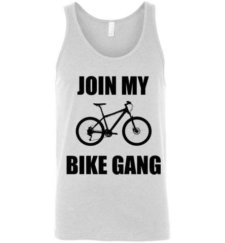 Join My Bike Gang Unisex Tank Top