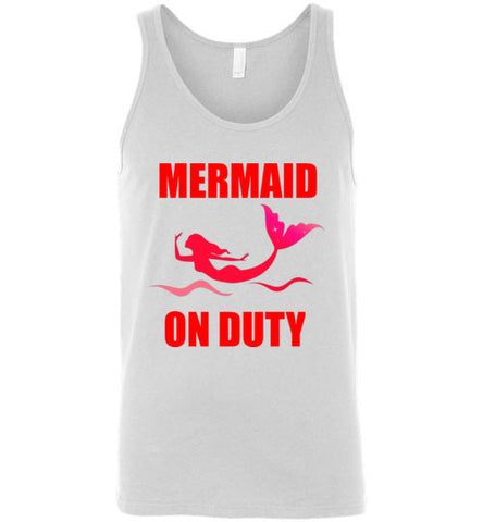 Mermaid On Duty Unisex Tank Top