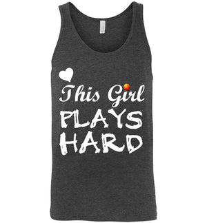 This Girl Plays Hard Basketball Unisex Tank Top