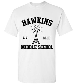 Hawkins A.V. Club Middle School Stranger Things T-Shirt