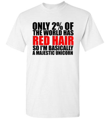 Only 2% of the World has Red Hair so i'm Basically a Majestic Unicorn