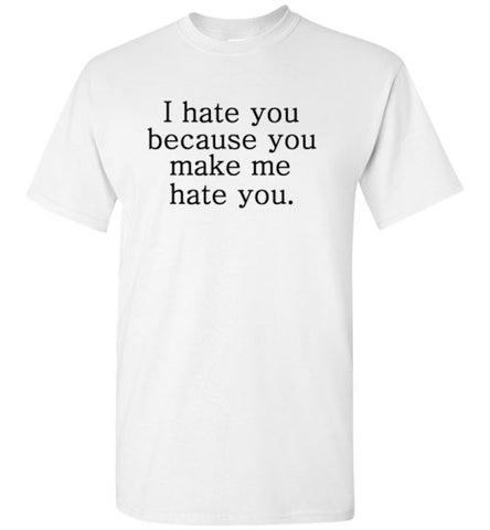 I Hate You Because You Make me Hate You
