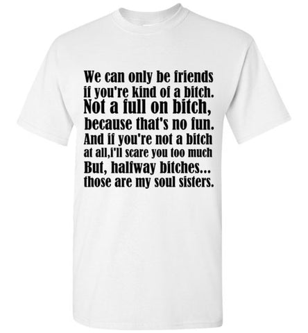 We Can Only Be Friends If You're Kind of a Bitch Not a Full T-Shirt