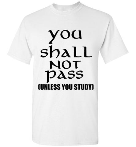 You Shall Not Pass Unless You Study