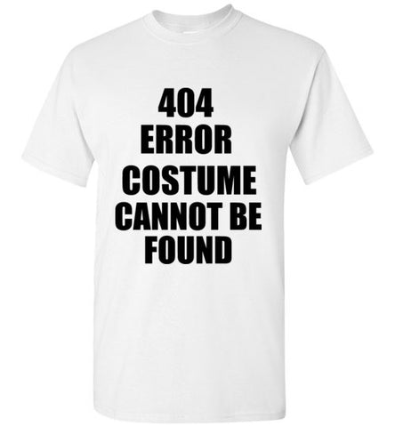 404 Error Costume Cannot Be Found