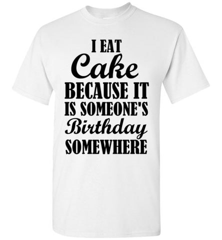 I Eat Cake Because It is Someone's Birthday Somewhere