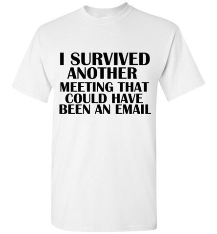 I Survived Another Meeting That Could Have Been an Email T-Shirt