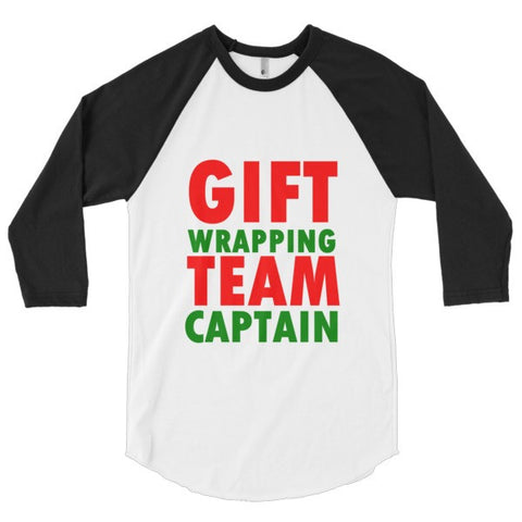 Gift Wrapping Team Captain 3/4 sleeve raglan shirt