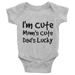 I'm Cute Mom's Cute Dad's Lucky One-piece