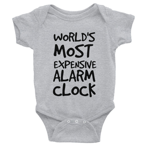 World's Most Expensive Alarm Clock Infant Bodysuit