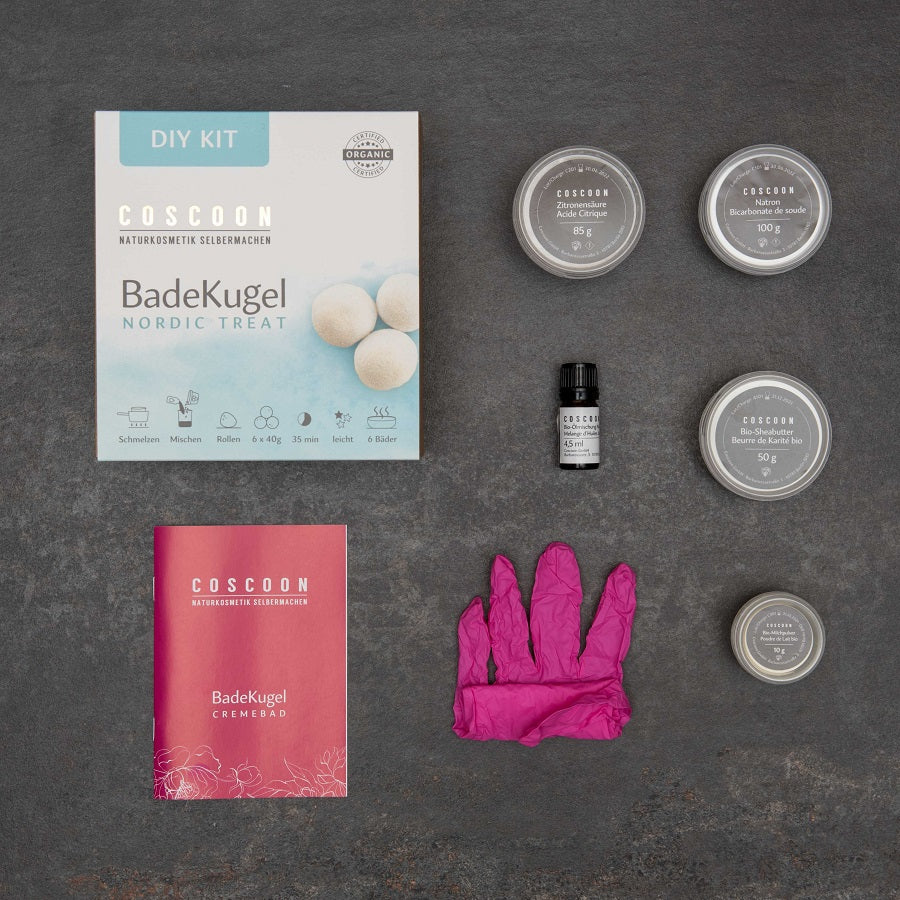 6 bis 8 BadeKugeln - Nordic Treat DIY-Kit