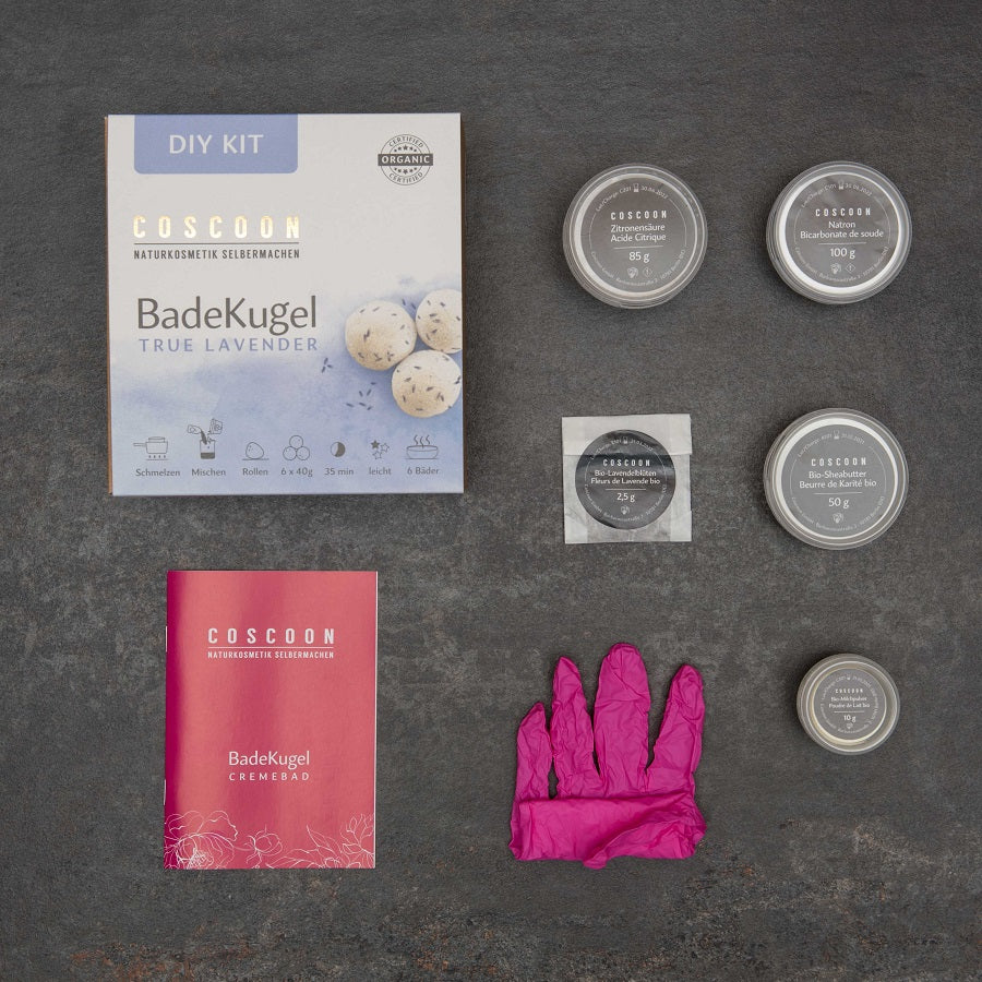 6 bis 8 BadeKugeln - True Lavender DIY-Kit
