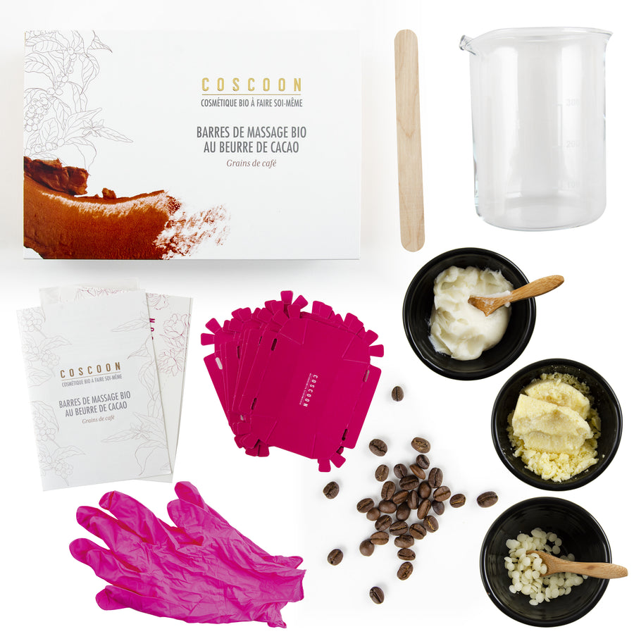 6 MassageBarren - Chocolate&Coffee DIY-Kit - französisches Kit