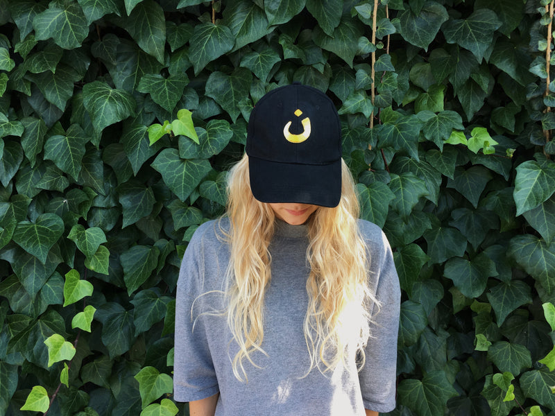 Unisex Embroidered Baseball Cap (Black)