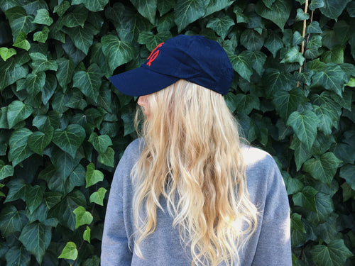 Unisex Embroidered Baseball Cap (Navy)