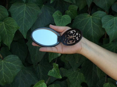 Carved Compact Mirror