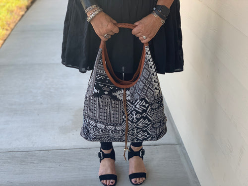 Slouch Bag - MIX Black & White