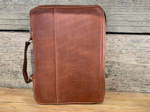 Leather Bible bag - med