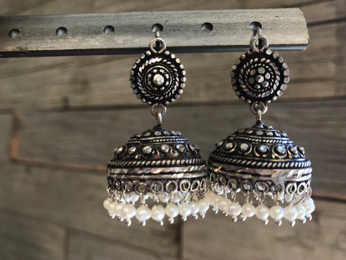 Earring - Sterling silver/pearls