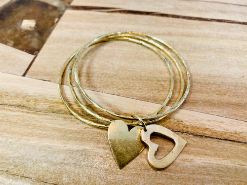Bracelets - brass with charms