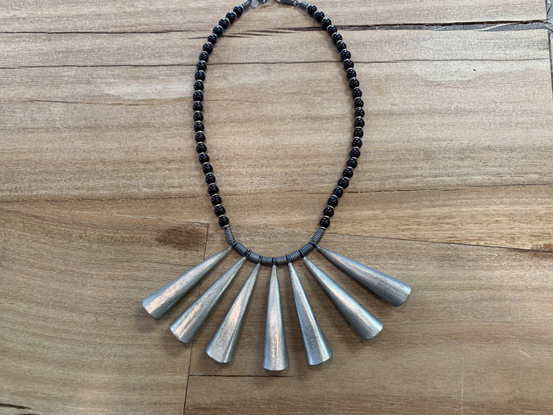Necklace - aluminum fringe