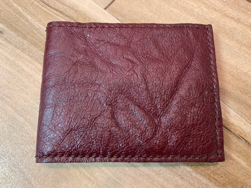 Men's Leather Wallet - Burgundy