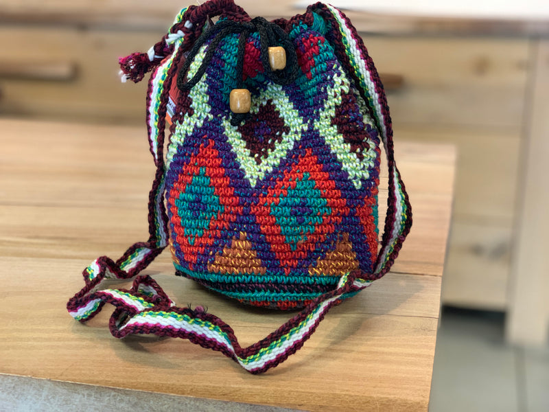 XS Crochet Purse Diamonds