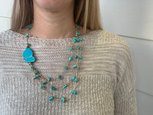 Necklace - Kubasho with Turquoise